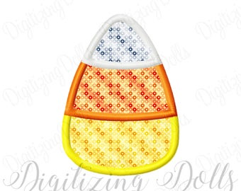Candy Corn Applique Machine Embroidery Design 2x2 3x3 4x4 5x5 6x6 5x7 6x10 Halloween INSTANT DOWNLOAD