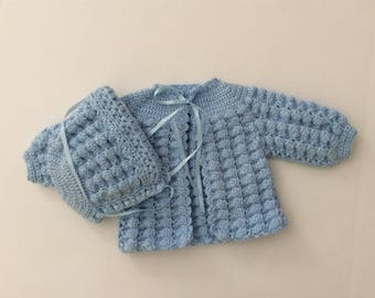 sweater set size 0-3 months