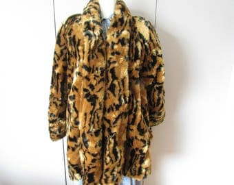Vintage Carly Monterey Faux Fur Coat