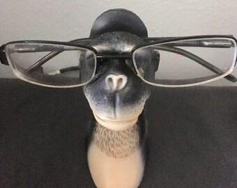 Reading glasses holder monkey Eyeglasse storage see no evil wise monkey
