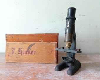 VIntage Luximette Microscope with wooden box