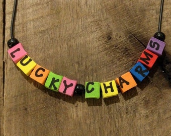 Lucky Charms Hash Name Necklace