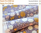 ON SALE ON Sale End of Bolt-Organic Cotton Fabric,Quilting Weight, Rich Meadow Navy from Cloud9, Morning Song Collection
