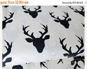 ON SALE Buck Forest Night print, Hellow Bear Collection, Cotton Fabric, Quilting Weight textile, Art Gallery Designer Cotton