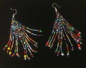 Boho Chic One of a Kind Handmade Pierced Earrings Multi color