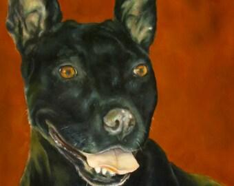 Pet Portraits dogs original oil paintings realistic commission custom by Sandra Cutrer Fine Art