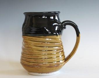 Stoneware Mug, Twisted Mug, 18 oz, handmade ceramic cup, ceramic stoneware mug, coffee cup