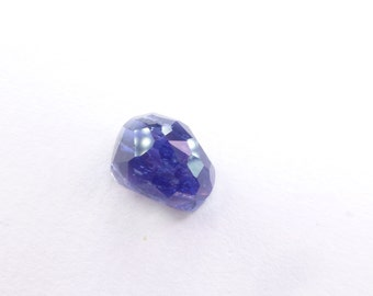Iolite Deep Blue  Microfacet Rose Cut. Faceted Cabochon Natural Gemstone. Micro Facet Freeform Cabs. 6.12 ct 13x9x8 mm (IO411)