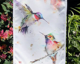 GARDEN FLAG featuring Cardinal, Hummingbird, Butterfly, Your Choice!