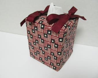 Tissue Box Cover/Flag x Red Ribbon