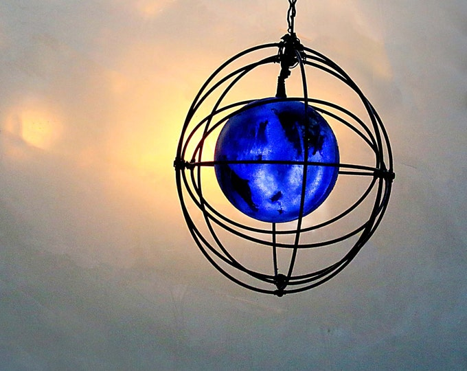 Atom Light, Indoor / Outdoor Giant Christmas Ornament Hanging Globe, Boys Dorm Rooms Nursery, Atomic Bomb Science Scientist Teenager Gift