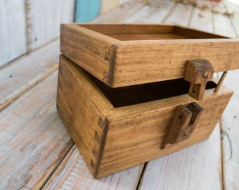 Wedding Card Box - Rustic Wooden Card Box - Rustic Wedding Card Box - Rustic Weddings - Handmade Box - Dovetail- Card Box - Wedding Gift