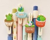 Cute Pen Ink Gel Pen Plants Gel Pen- Kawaii Gel Pen