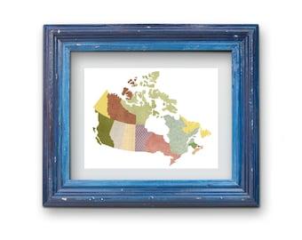 Canada Map Collage Print {Digital}