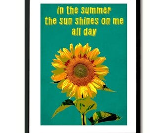 Sunflower The Springfields inspired Art Print