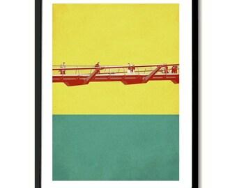 Millenium Bridge, London Art Print