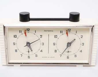 Vintage mechanical chess clock  from Soviet Union.