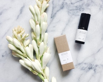 perfume no. 2 - botanical fragrance - tuberose, saffron, vanilla, neroli, ginger, wild sweet orange, sandalwood, ambrette seed - 5g