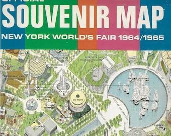 Vintage Mid Century New York City Map - New York World's Fair Illustrated Map
