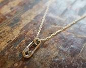Safety Pin Necklace Safety Pin Necklaces Safety Pin Jewelry Silver Safety Pin Charm Safety Pin Pendant Best Friend Gift Best Friend Necklace