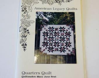 Quarters Quilt: American Legacy Quilts Fat Quarter Quilt UNUSED