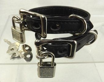 locking wrist restraints locks bdsm cuffs black leather bondage restraints mature slave cuffs fetish locking cuffs