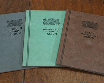 Vintage Dansco Coin Albums Lot of 3
