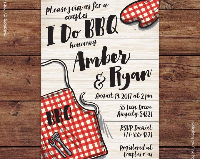 Bbq Invitation, BBQ Party Invitation, I Do BBQ Invitation, Wedding Shower, Couples Shower, Backyard Bbq, Barbecue Printable Invitation