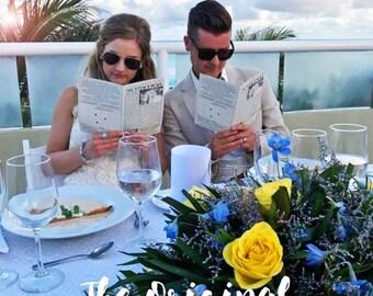 Mini Newspaper Wedding Program - The Original