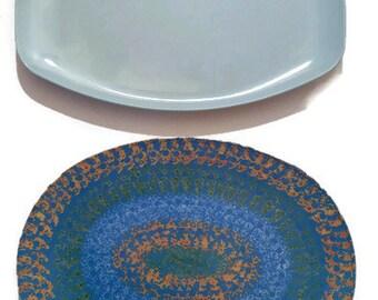 MELMAC Platters Dinnerware Blue Melmac Retro Kitchen