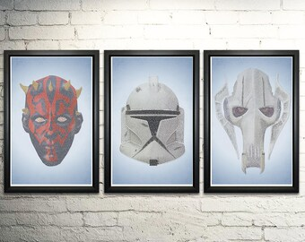 Star Wars Prequel Word Art Print Three Set - 11x17""