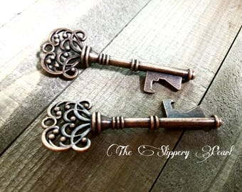 key bottle opener skeleton key copper keys copper skeleton keys wedding favor bottle opener keys big - Key Bottle Opener