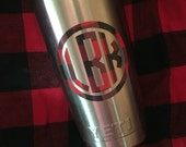 Buffalo Plaid Check monogram decal