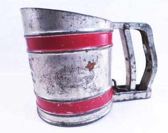 Flour Sifter Junior Model w/ Pull Handle Vintage 50s