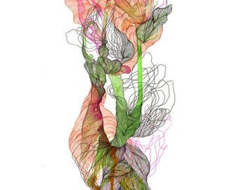 Element LVII- Giclee print / organic / contemporary art / abstract painting/ drawing /