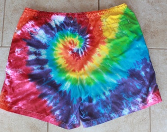 Tie dye Puritan shorts size XL upcycled