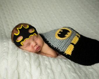 Batman Superhero Newborn Photo Prop