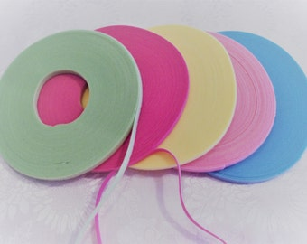 VERY LIMITED QUANITIES!  5 Yards Spring Pack of Genuine Ultra Thin Doll Clothes Velcro® / Extra Thin Velcro®