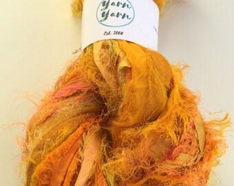 Premium quality sari silk ribbon, Unique eyelash edging, Amazing soft silk, 200g, knitting ribbon, ribbon yarn.