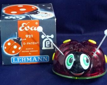 Vintage Lehmann Western Germany Eva Lady Bug Sparking Friction Toy, 1945-1970