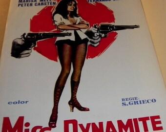 Miss Dynamite Vintage European Film Poster 1974