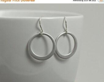 Silver Circle Earrings -Simple Hoop Earrings