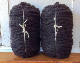 Black Super Chunky Alpaca Yarn Roving