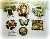 Graphic 45 Children's Hour May Handmade Paper Embellishments for Scrapbooking Layouts Cards Mini Albums Tags Paper Crafts