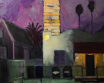 San Diego Night Painting, Sherman Heights Nocturne