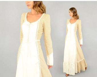 ANNIVERSARY SALE 70's GUNNE Sax Gingham Dress