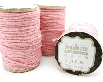Pink Jute Twine, 200ft, Light Pink Craft Cord