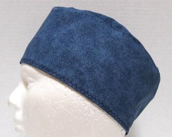 Mens or Womens Surgical Scrub Hat Shades of Denim Blue