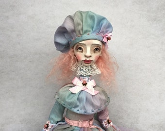 Art doll Osa OOAK doll Collecting doll Air dry clay doll Paper clay doll Hand made doll Art clay doll
