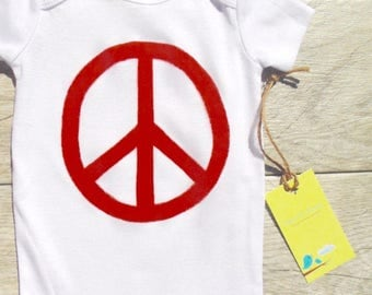 Children - Peace Sign - Toddler T-Shirt or Baby Onesie